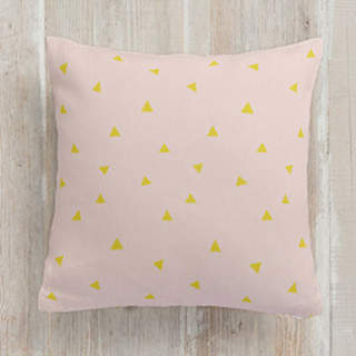 Golden Triangle Square Pillow