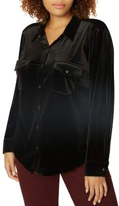 Sanctuary Curve Velvet Work Shirt