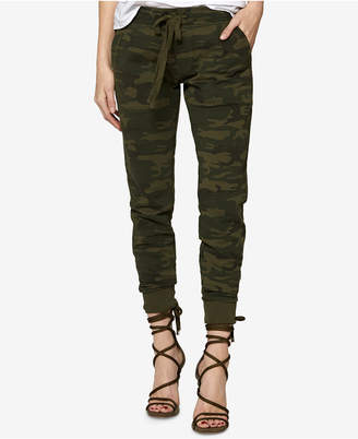 Sanctuary Cotton Camouflage-Print Jogger Pants