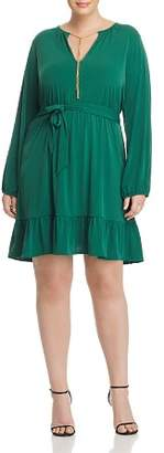 MICHAEL Michael Kors Chain-Embellished Ruffle Dress