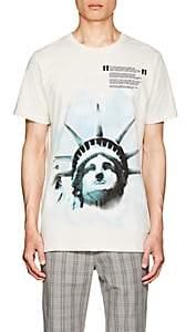 "Off-White Men's ""Liberty"" Cotton Jersey T-Shirt-White"