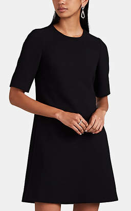 Lisa Perry Women's Peekaboo Wool Crepe Shift Dress - Black