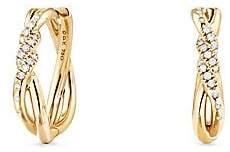 David Yurman Continuance Hoop Earrings with Diamonds in 18K Gold