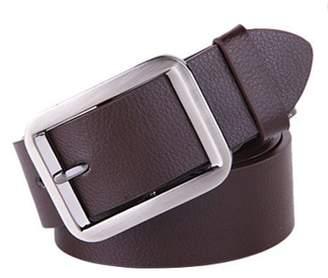TRYIF coffee Belt Alloy Pin Buckle Waistband Genuine Leather Men Waist Wide Strap Casual