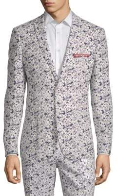 Floral Linen Cotton Sport Jacket