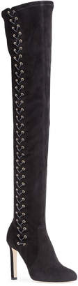 Jimmy Choo Marie 100 black suede over the knee boots