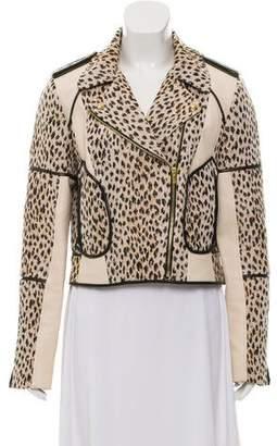 Diane von Furstenberg Cheetah Moto Jacket