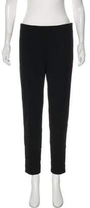 Lela Rose Mid-Rise Straight-Leg Pants