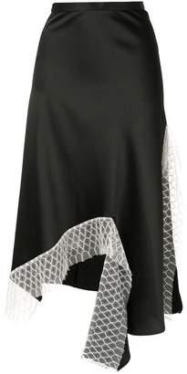 CHRISTOPHER ESBER lattice lace dual split skirt