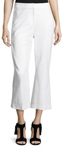Kate Spade New York Cropped Flare Stretch Pants, Fresh White