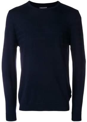 Emporio Armani jacquard logo jumper