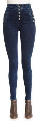 J Brand Natasha Sky-High Skinny Jeans, Allegiance $268 thestylecure.com