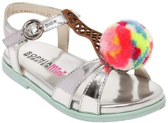Sophia Webster Loni Ice Cream Metallic Leather Sandals