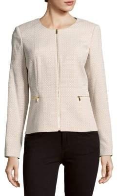 Calvin Klein Roundneck Long-Sleeve Woven Jacket