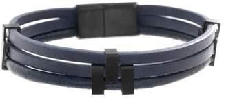 Ben Sherman Faux Leather Stranded Bracelet