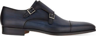Magnanni Leather double monk shoes