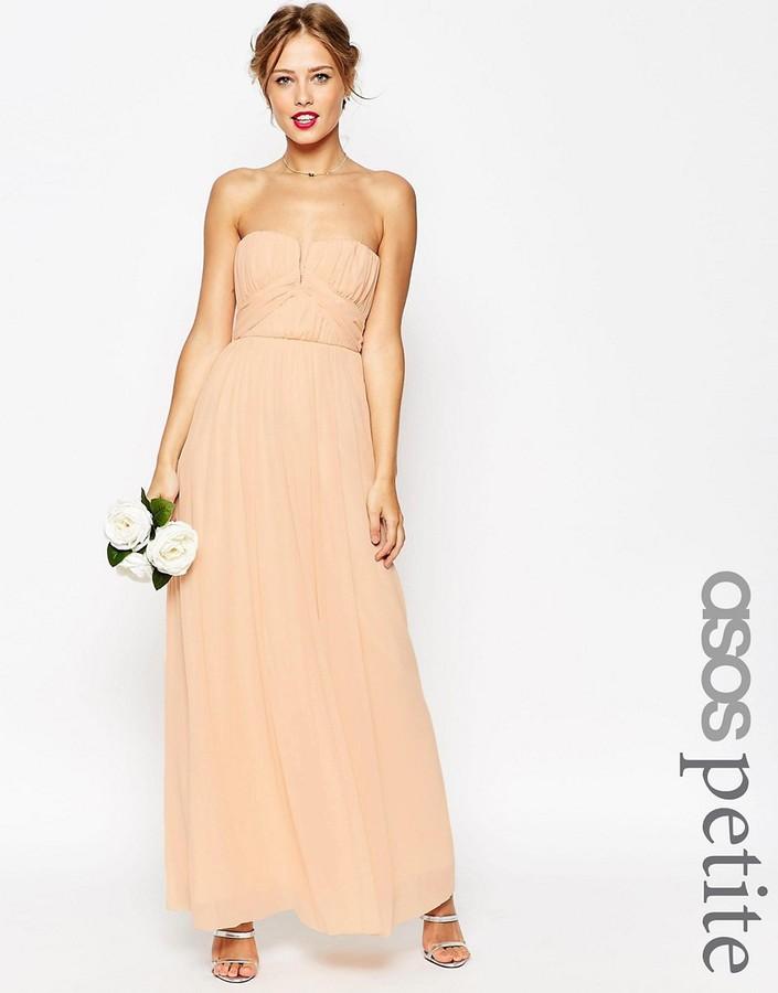 AsosASOS Petite ASOS PETITE WEDDING Ruched Bodice Bandeau Maxi Dress