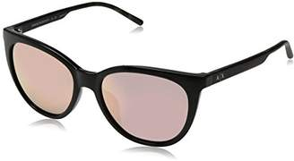 Armani Exchange Women's Plastic Woman Sunglass Non-Polarized Iridium Cateye