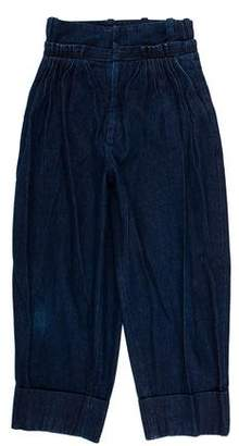 J.W.Anderson High Waisted Wide-Leg Denim Pants