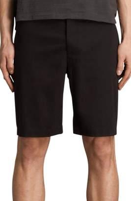 AllSaints Cobalt Slim Fit Cotton Shorts