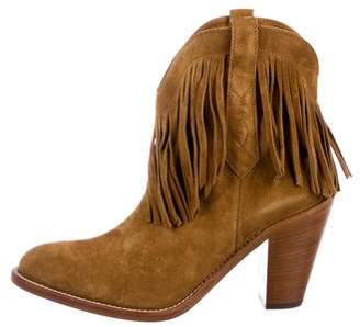 Saint Laurent New Western Fringe Booties w/ Tags