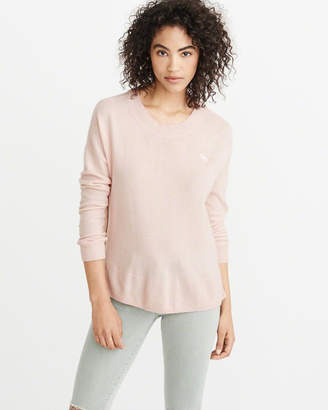 Abercrombie & Fitch Cashmere Zipper Crew Sweater