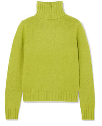 Allude Cashmere Turtleneck Sweater - Green