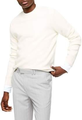 Topman Off Text Crew Neck Sweater