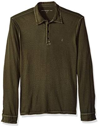 John Varvatos Men's Long Sleeved Polo AQP4B 391