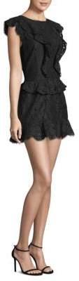 Joie Acostas Ruffle Detail Cap-Sleeve Dress