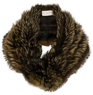 Fur Fox Trim Shawl