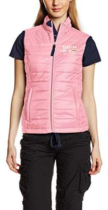 Gaastra Women's Down Banded Collar Sleeveless Gilet - Pink - UK