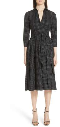 Michael Kors Polka Dot Wrap Front Dance Dress