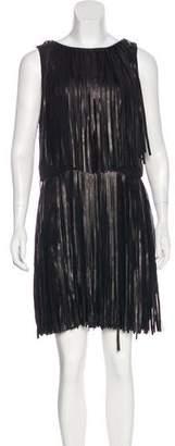 Sonia Rykiel Leather Fringe Dress w/ Tags