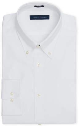 Tommy Hilfiger White Slim Fit Button Collar Dress Shirt