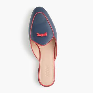 J.Crew Piped loafer mules in leather