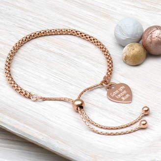 0c30cddebda Hurleyburley Personalised Rose Gold Friendship Bracelet