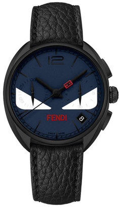 Fendi 40mm Men's Monster Eyes Chronograph Watch, Blue $1,495 thestylecure.com