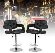 Hanyulore Adjustable Barstool Leather Look Accent Chair (Set of Two)