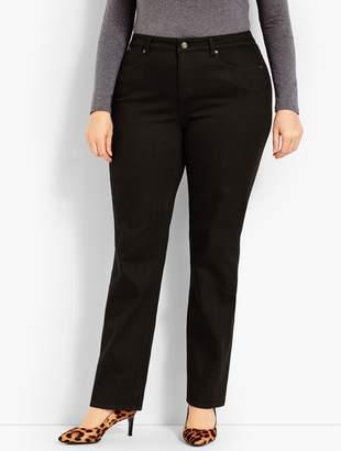 Talbots Plus Size Exclusive Comfort Stretch Denim Straight Leg Jeans - Black