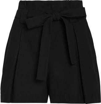 L'Agence Alex Cotton-Linen Paperbag Shorts