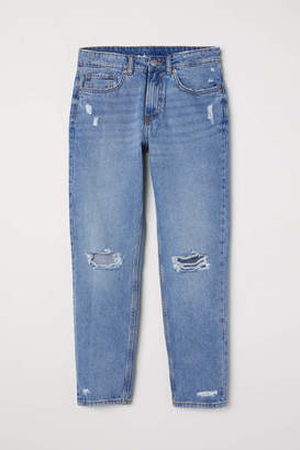 H&M Boyfriend Low Ripped Jeans - Light denim blue - Women