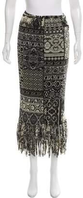 Fuzzi Printed Knee-Length Skirt