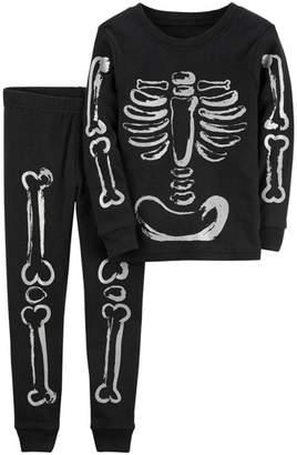 Festwolf KateWolf Children Tkeletons Tops bones Shirt Pants 2PCS Outfits Set Clothes