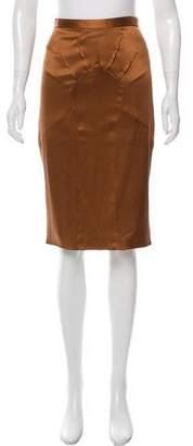 Dolce & Gabbana Silk Knee-Length Skirt