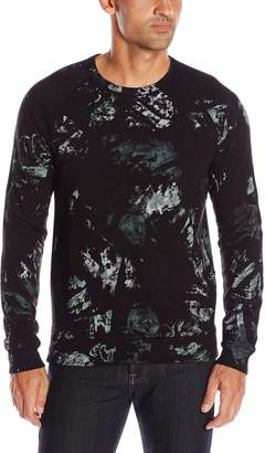 Splendid Mills Men's Mills Long Sleeve Crew Neck Painted Camo Shirt