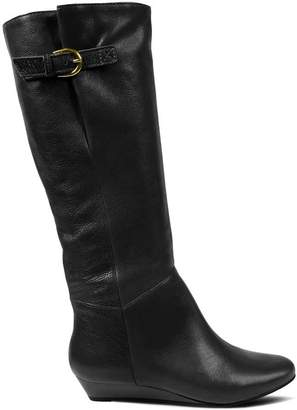 bff43c642ba Steve Madden Black Leather Upper Women s Boots - ShopStyle
