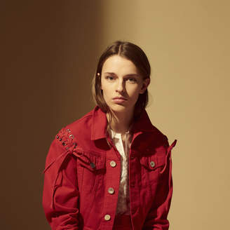 Sandro Cotton jacket with lacing