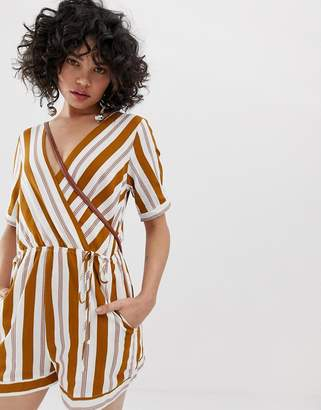 Emory Park playsuit in contrast stripe