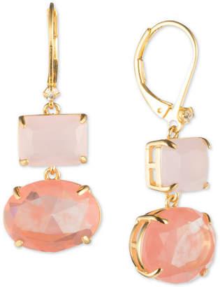Carolee Gold-Tone Stone Double Drop Earrings